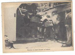 CLB099 -  MARINAI AI PEZZI DURANTE UN AZIONE CARTOLINA A CURA UFFICIO PROPAGANDA P N F FASCISMO VENTENNIO - Patriotic