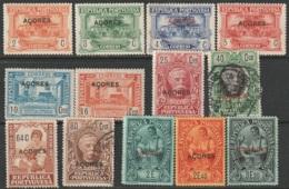 Azores 1925 Sc 238-44,246,249,251,255-7  Partial Set Mostly MH - Açores