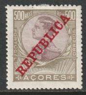 Azores 1910 Sc 138  MH - Açores