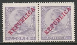 Azores 1910 Sc 126  Pair MNH - Açores