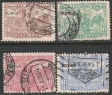 Azores 1925 Sc RA5-8  Postal Tax Set Used - Açores