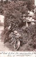 CARTE PHOTO MOTO ANCIENNE - Motos