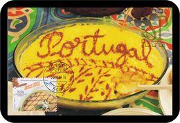 Portugal 2020 Postal Máximo EUROMED Gastronomia Mediterrâneo Arroz Doce Maxicard Maxi Alimentation Maximum Estoi - Alimentación