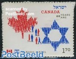 Canada 2010 Joint Issue With Israel 1v S-a, (Mint NH), Various - Joint Issues - Nuovi