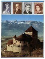 (H 5) Liecthestein (posted To Australia With WWF Stamp) - Royal Family & Castle - Liechtenstein