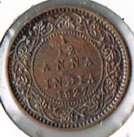 1/12 Anna - George V, 1927, XF - India
