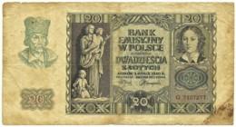 Poland - 20 Zlotych - 01.03.1940 - Pick: 95 - Serie: G - Polonia