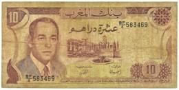 Morocco - 10 Dirhams - 1985 / AH 1405 - Pick 57.b - Sign. 9 - Serie BF/4 - King Hassan II - BANQUE DU MAROC - Marruecos