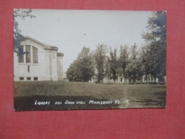 RPPC Library  Middlebury - Vermont   Ref 4272 - Etats-Unis