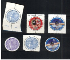(stamps 5/8/2020) Selection Of New Zealand Stamps (round Shape) 6 Stamps - Unclassified