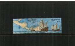 (stamps 5/8/2020) Nicaragua - Map And Saling Ship (2 Stamps) - Nicaragua