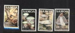 (stamps 5/8/2020) Samoa (4 Mint Stamps) Mushrooms / Champignons - Pilze