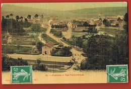 52- FRONCLES  - Vue Panoramique -   Circulée  1908 Vers ANGLETERRE - Façon Tissée - Scans Recto Verso - Frankreich