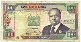 Kenya - 100 Shillings - 1 July 1991 - Pick 27.c - Serie AL - President Daniel Toroitich Arap Moi - Kenya
