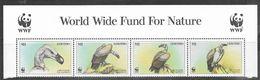 Lesotho  1998  Sc#1091  M1  WWF Vultures Header Strip   MNH  2016 Scott Value $4.50 - Eagles & Birds Of Prey