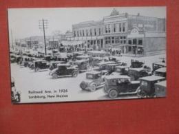 Railroad Ave In 1926  Lordsburg New Mexico >  Ref 4272 - Etats-Unis