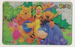 Singapore Travel Transport Card Subway Train Bus Ticket Ezlink Used Pooh And Friends - Metro