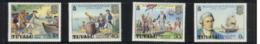 (stamps 5/8/2020) Tuvalu Island (4 Mint Stamp) Captain Cook - Tuvalu