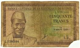 Guinea - 50 Francs - 1 Mars 1960 - Pick: 12 - Serie L - Guinea