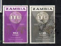 (stamps 5/8/2020) Zambia (2 Mint Stamp) ITU - Zambie (1965-...)