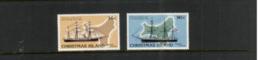 (stamps 5/8/2020) Christmas Island (2 Mint Stamp) Sailing Ship - Christmas Island