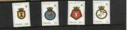 (stamps 5/8/2020) Gibraltar Island (4 Mint Stamp) Navy Ship Crest - Gibraltar