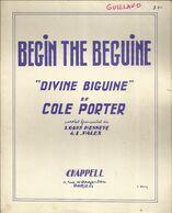 """""""Begin The Beguine"""" """"Divine Biguine"""" De Cole Porter - Paroles Françaises De Louis Hennevé & L. Palex - Musica & Strumenti"""