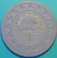 $1 Casino Chip. Santa Fe, Las Vegas, NV. N36. - Casino