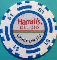 $1 Casino Chip. Harrahs Del Rio, Laughlin, NV. N36. - Casino