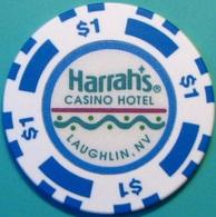 $1 Casino Chip. Harrahs, Laughlin, NV. N36. - Casino