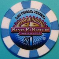 $1 Casino Chip. Santa Fe Station, Las Vegas, NV. K36. - Casino