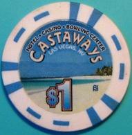 $1 Casino Chip. Castaways, Las Vegas, NV. N36. - Casino