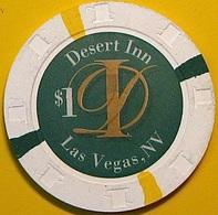$1 Casino Chip. Desert Inn, Las Vegas, NV. N37. - Casino