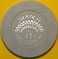 $1 Casino Chip. Santa Fe, Las Vegas, NV. N37. - Casino