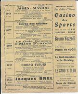 85.- LES SABLES D' OLONNE  CASINO DES SPORTS - Saison 1965 - Programmi