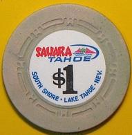 $1 Casino Chip. Sahara Tahoe, Lake Tahoe, NV. N37. - Casino