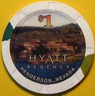 $1 Casino Chip. Hyatt Regency, Henderson, NV N37. - Casino