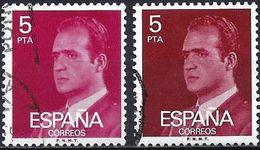 Spain 1976 - Mi 2240x - YT 1993 ( King Juan Carlos 1 ) Two Shades Of Color - Variétés & Curiosités