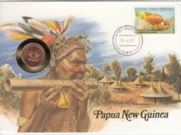 AK - Numis Brief - (Münzbrief) - Papua New Guinea - 1987 - Papua-Neuguinea