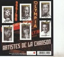 FRANCE 2011 BLOC ARTISTES DE LA CHANSON OBLITERE - F4605 - F 4605 - Blocs & Feuillets