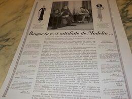 ANCIENNE  PUBLICITE J AI FAIT CETTE ROBE AVEC ECOLE  MODELIA 1930 - Altri