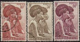 Cameroun Obl. N° 279 à 281 - (Used) Femmes Tikar - Cameroun (1915-1959)