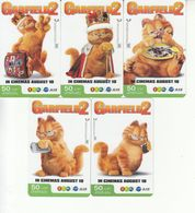 5 X Thailand Phonecard 12Call - Garfield 2 Movie Cinema Film - Thaïland