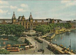 AMSTERDAM Centraal Station Tram Tramway Car BUS Ancien Enseigne BERGMANN Camion VOIR DOS - Amsterdam