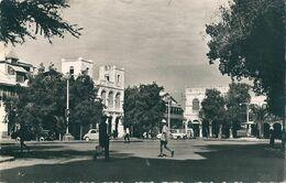 2 Superbes CPsm, Dentelées  N Et B  De  DJIBOUTI   (  Afrique  )   La Place Ménèlick. Et  BOUTRES - Dschibuti