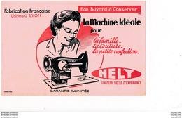 BUVARD  Machine à Coudre Idéale HELY  Usine à Lyon  ( Recto Verso ) - Vestiario & Tessile