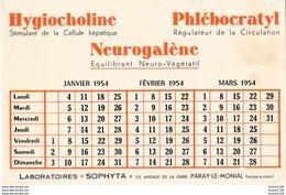 BUVARD  Année 1954 Laboratoires Sophyta à Paray Le Monial 71 ( Médicament Pharmacie ) - Produits Pharmaceutiques