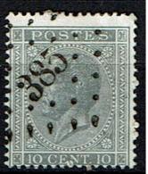 17A   Obl  LP 385 Waerscoot  + 8 - 1865-1866 Profiel Links