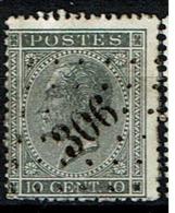 17A   Obl  LP 306 Ransart  + 12 - 1865-1866 Profiel Links