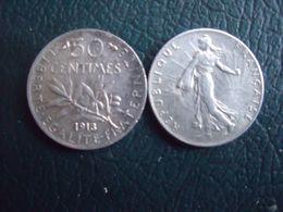 FRANCE   = 1 PIECE DE 50 CENTIMES EN ARGENT  DE 1913 - G. 50 Centimes